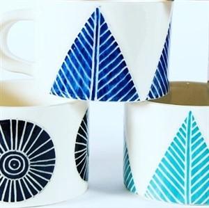 Threet Ceramics Geometric Design Mugs