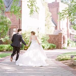 Bride and Groom at Aldie Mansion