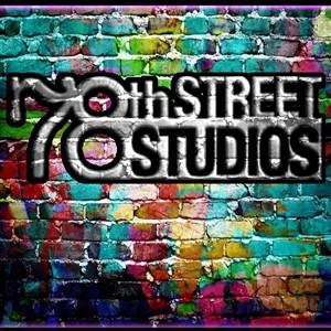 78th Street Studios Logo on Rainbow Brick Wall