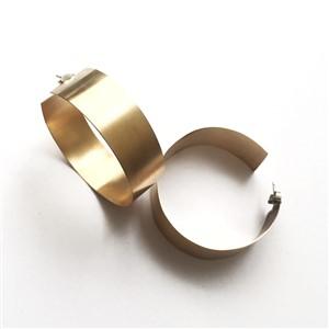 Ember and Flow Brass Hoop Earrings