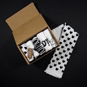 Ink & Co Black and White Ohio theme printed tea towel assortment