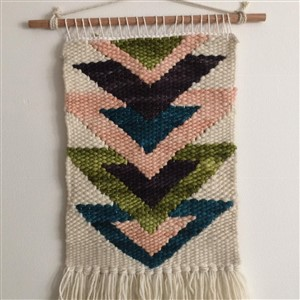 At Home Modern Geometric Woven Wall Hanging
