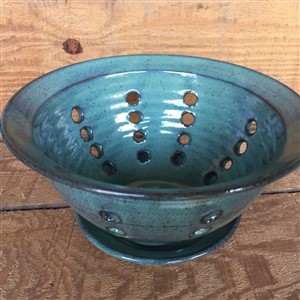 Green Berry Bowl by Broadbent Pottery