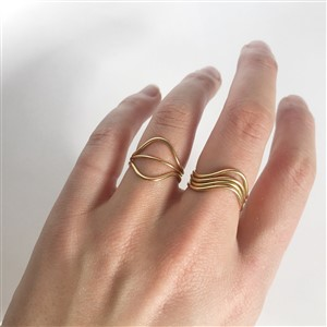Gold By Ren Curve Rings Stacked