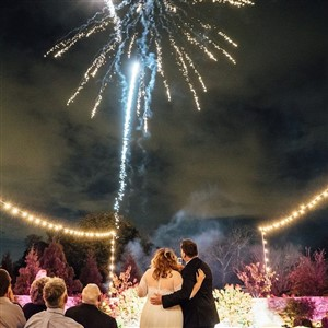 Fireworks at Wedding by Alexandria Catherine Events