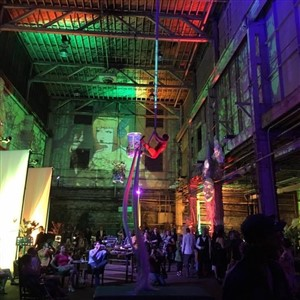 Aerial Performer in Crowd at Dreamer's Bal