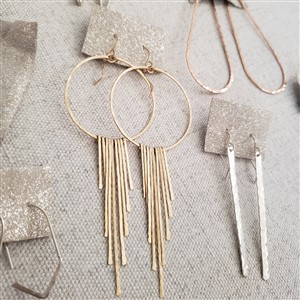 Jessica Dubis Jewelry Fringe Hoop Earrings