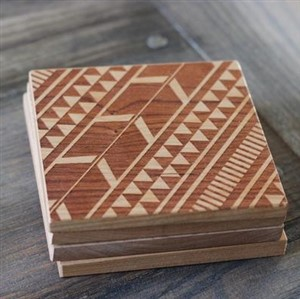 Tribal Aztec Wooden Coasters