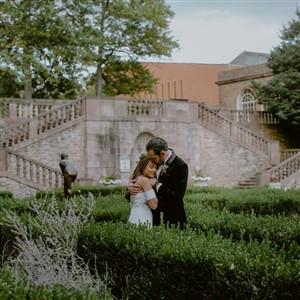Bride and Groom at Tyler Gardens Wedding