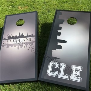 Cleveland Corn Hole Boards by Wood Thingamajigs