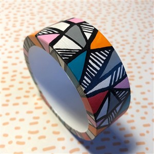 Hand-painted Wooden Bangle by The Makist