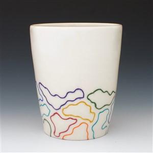 Rag Pottery Rainbow Cup