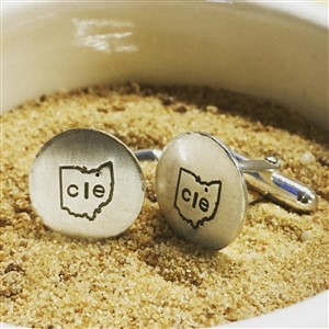Sterling Silver CLE Cufflinks by Dalia Jean Designs