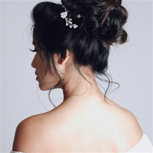 Bridal Updo Back by Cleveland Hair and Makeup