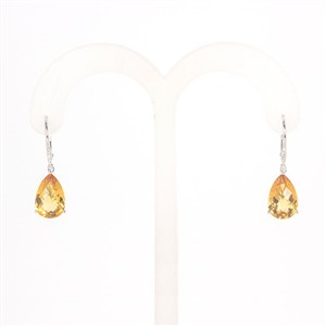 Harry Merrill Citrine Drop Earrings