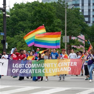 Pride in the CLE March