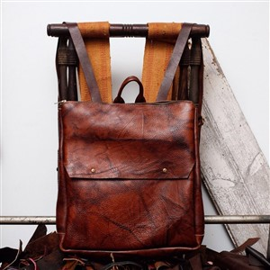 Custom Leather Backpack by Cusp by Cassie