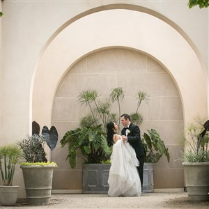 Bride and Groom at Longwood Gardens by Jana Bannan Photography