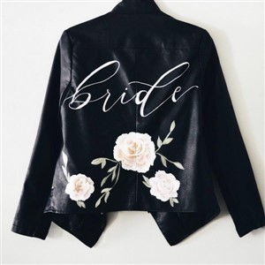 The Blonde Maker Custom Painted Leather Jacket