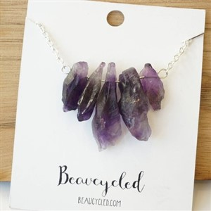 Beaucycled Stacked Quartz Necklace