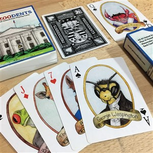 Prezoodents Playing Cards by Ah Ha Brands