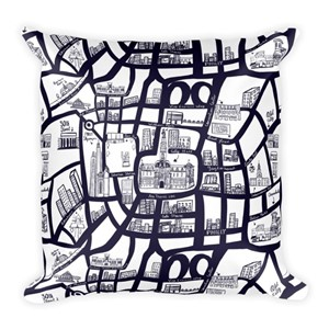 Ada Thorne Philly Map Pillow