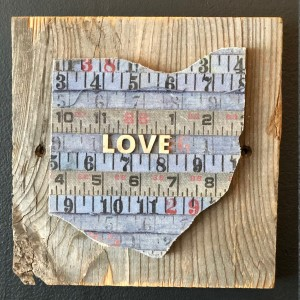 Ohio LOVE wood plaque