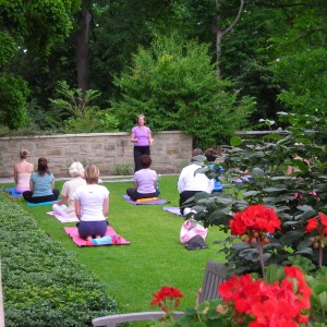 Yoga in Botanical Garden