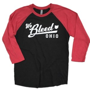 3/4 We Bleed Ohio Shirt