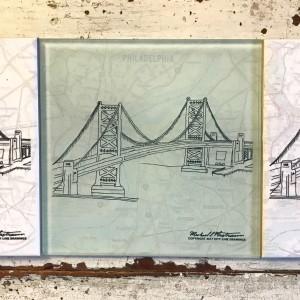 City Line Drawings Glass Pane Bridge