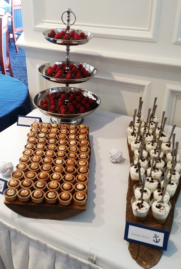 Wedding Tart Shots and Mini S'mores Tartlets