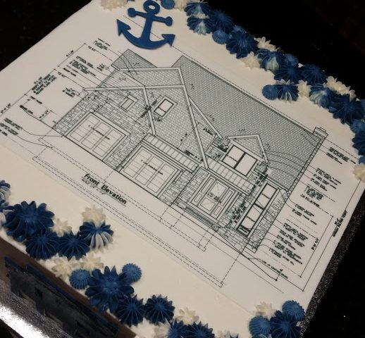 House Building Plans Grooms Cake