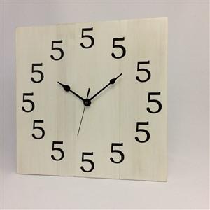 5 o'clock wood wall clock