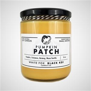 White Fox Black Koi Pumpkin Patch Candle
